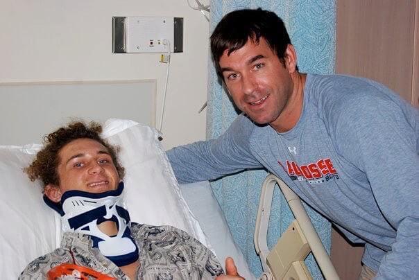 Casey Powell and Corey Eaton at North Broward Hospital ER