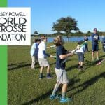Casey Powell World Lacrosse Foundation Student Sticks Program in action