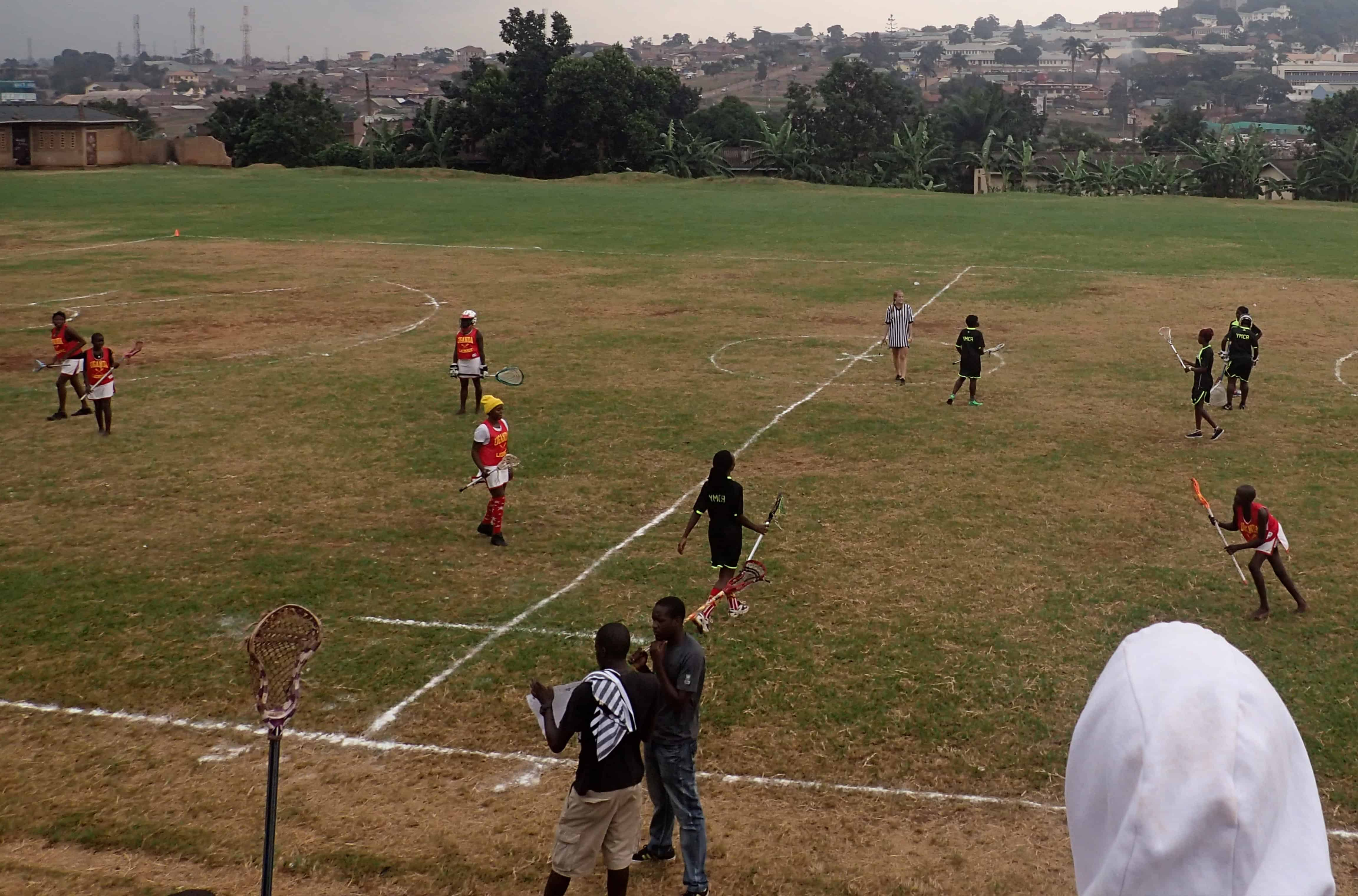Ugandan women playing lacrosse