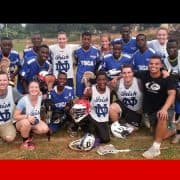 Many Ugandas are playing Lacrosse thanks to Volunteers.